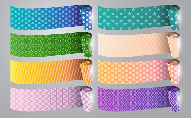 Design artistico del nastro adesivo adesivo traslucido. elemento grafico astratto concetto.