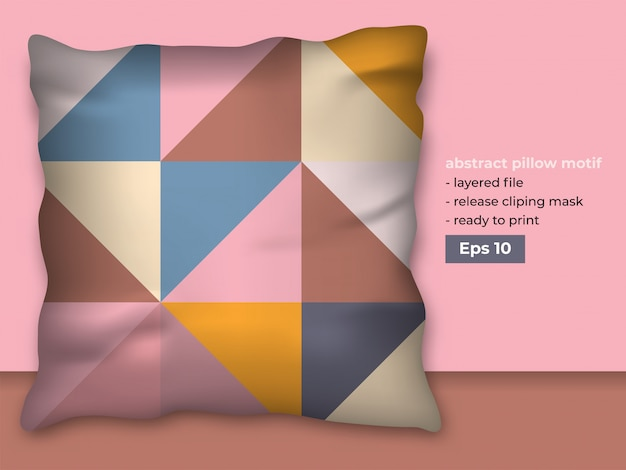 Design astratto alla moda per la produzione di stampa di cuscini
