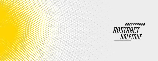 Design astratto banner mezzetinte giallo e bianco