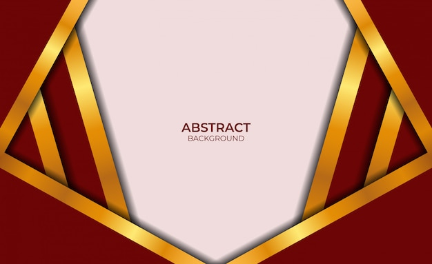 Design astratto rosso e oro di lusso