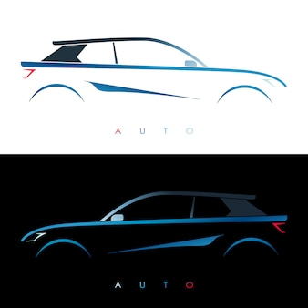 Design auto blu