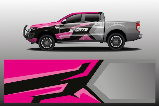 Design avvolgente per camion per azienda