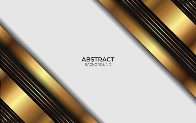 Design background lusso oro e nero