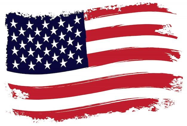 Design bandiera americana grunge