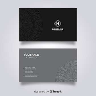 Design biglietto da visita di mandala