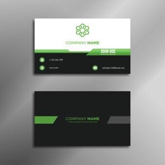 Design biglietto da visita nero e verde