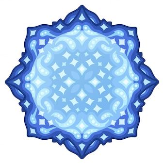 Design blu stellato con spazio tondo copia
