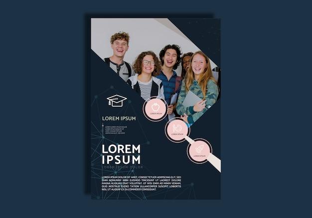 Design brochure di educazione