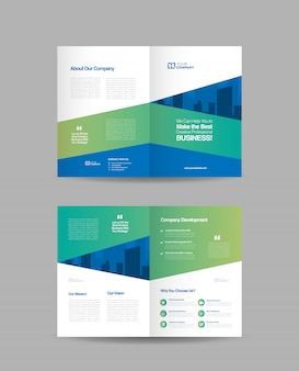Design brochure pieghevole