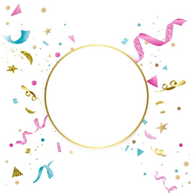 Design celebrativo di coriandoli colorati