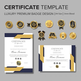 Design certificato professionale con badge
