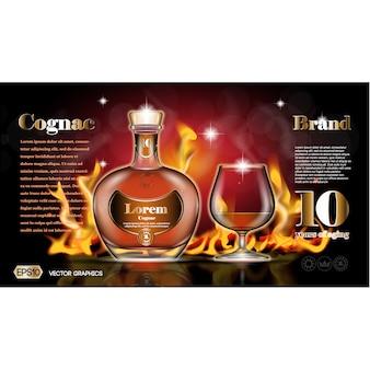 Design cognac sfondo