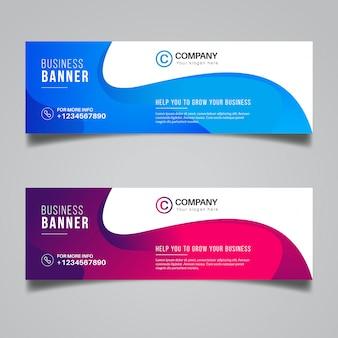 Design colorato astratto banner