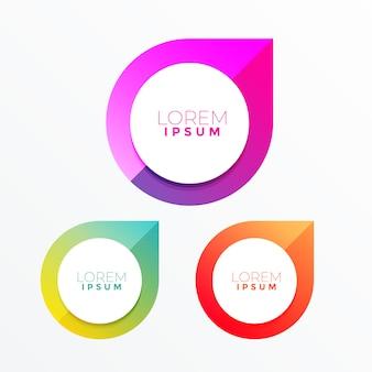 Design colorato dell'etichetta con lo spazio del testo
