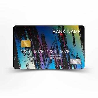 Design colorato della carta di credito.