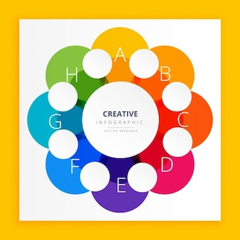 Design colorato infografica
