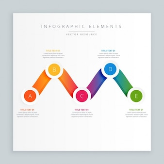 Design colorato infograph ondulato