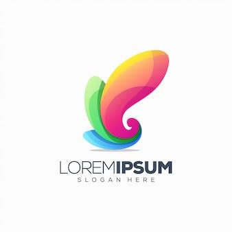 Design colorato logo g lettera