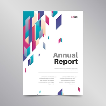 Design colorato modello di relazione annuale