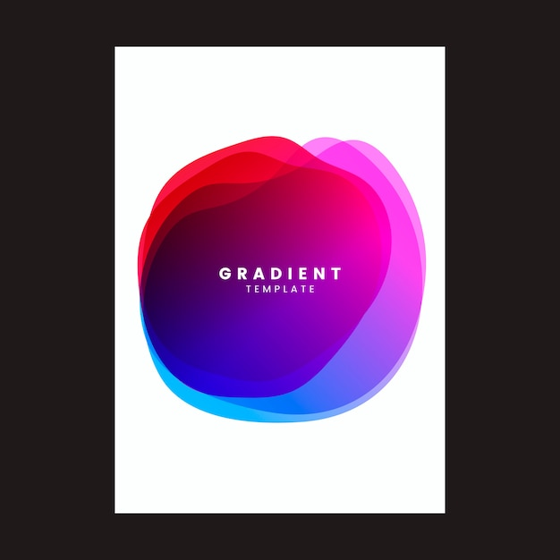 Design colorato poster template sfumato