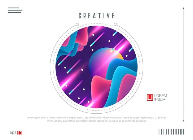 Design colorato sfondo geometrico