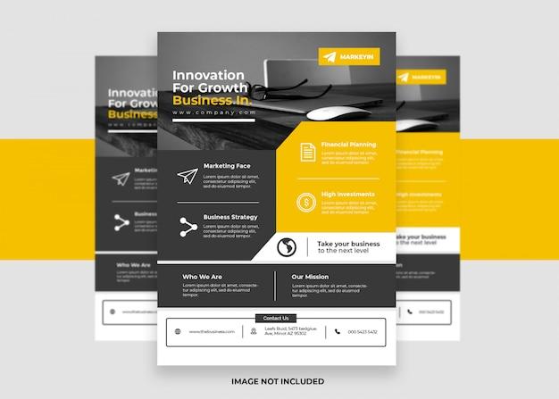 Design colorato volantino aziendale presentazione yello