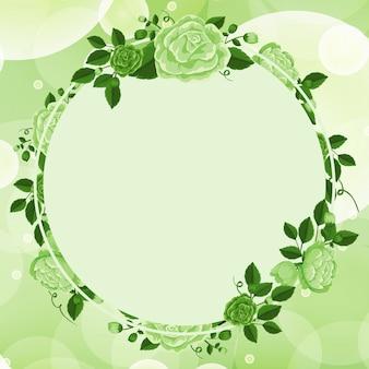 Design con cornice floreale verde