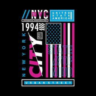 Design cool di vettore di tipografia di new york city