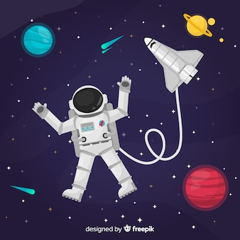 Design creativo astronauta