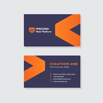 Design creativo biglietto da visita dell'agenzia