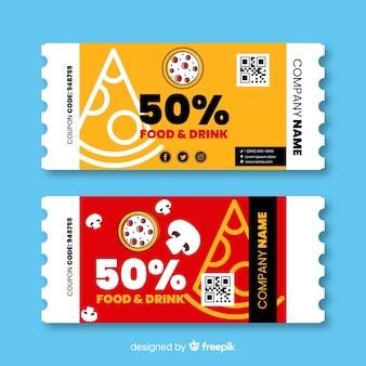 Design creativo coupon o voucher modello