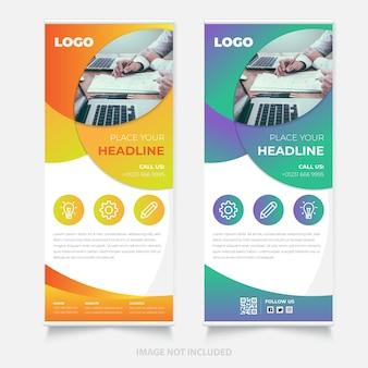 Design creativo del banner roll up