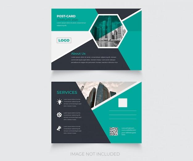Design creativo del modello di cartolina postale