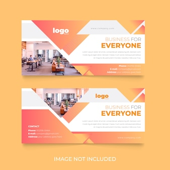 Design creativo del modello di copertina di facebook