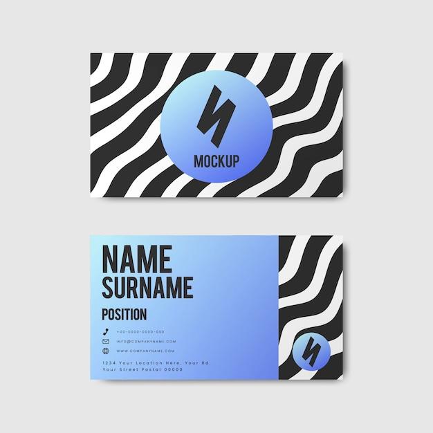 Design creativo di biglietti da visita in stile memphis in colori vivaci