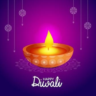 Design creativo di happy diwali festival