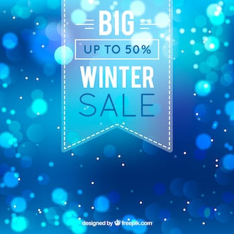 Design creativo di vendita invernale blu