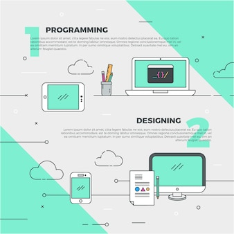 Design creativo e banner di programmazione
