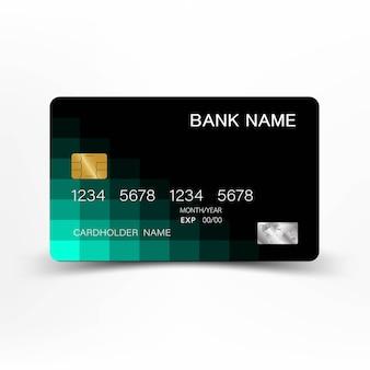 Design creativo e carta di credito. con ispirazione dall'astratto.