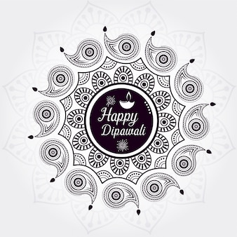 Design creativo felice di sfondo di diwali