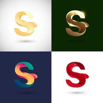 Design creativo logo lettera s