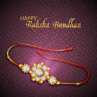 Design creativo lucido di rakhi per la felicità di raksha bandhan felice.