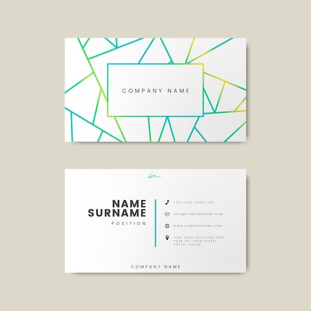 Design creativo minimal e moderno di biglietti da visita con forme geometriche