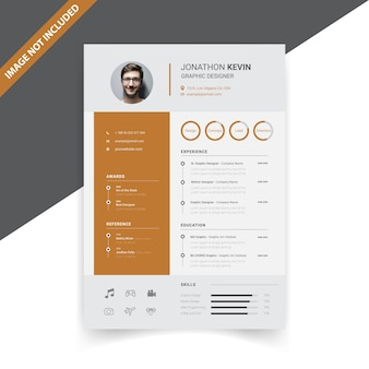 Design creativo modello di resume moderno