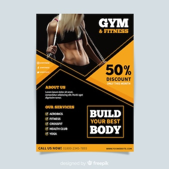 Design creativo modello flyer fitness
