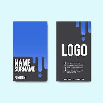 Design creativo moderno biglietto da visita retrò