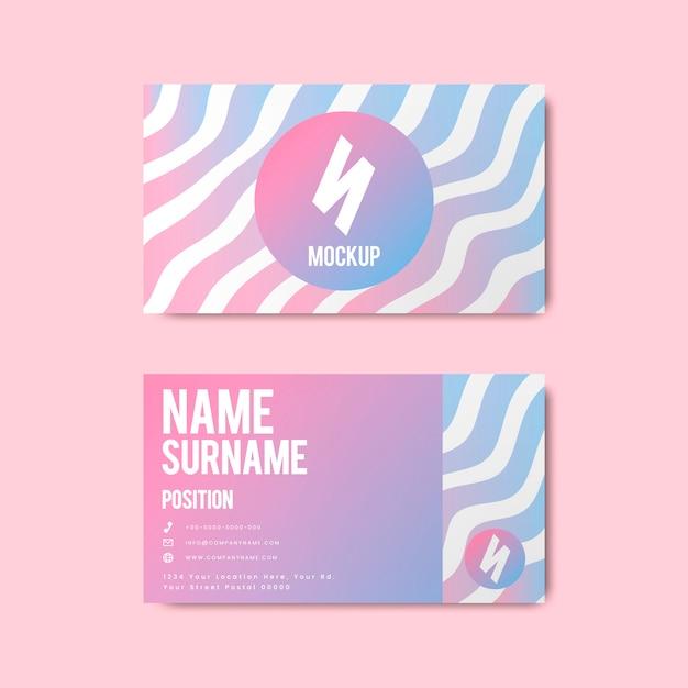 Design creativo per biglietti da visita in stile memphis in colori vivaci