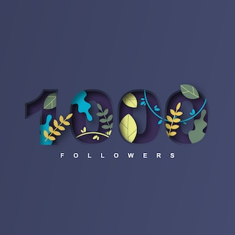 Design da 1000 follower