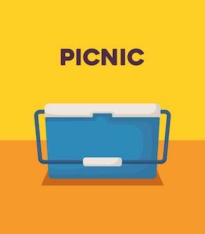 Design da picnic con l'icona di raffreddamento