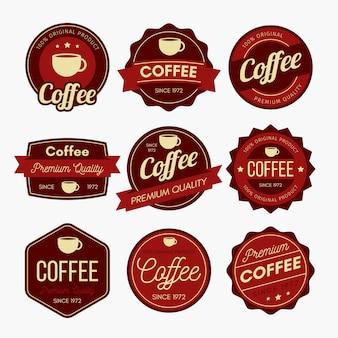 Design del badge del caffè
